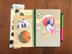 scrittura e collage